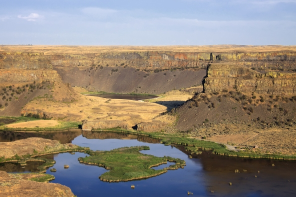 A view of Dry Falls in Washington State, USA. Photo taken by Steven Pavlov.