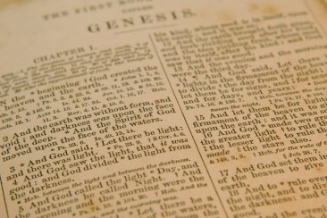 Old Bible, Genesis chapter One
